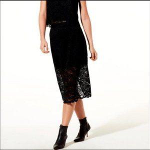 Aritzia Babaton Wilbur Lace Navy Pencil Skirt 0
